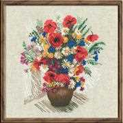 RIOLIS Summer Flowers Cross Stitch Kit