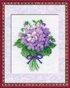 RIOLIS Violets Cross Stitch Kit