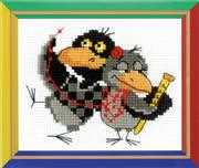 RIOLIS Two Ravens Cross Stitch Kit