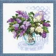 RIOLIS Lilac Bouquet Cross Stitch Kit