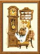 Cat with Clock - RIOLIS Cross Stitch Kit