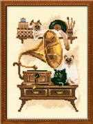 Cat with Gramaphone - RIOLIS Cross Stitch Kit