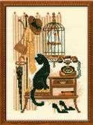 Cat with Telephone - RIOLIS Cross Stitch Kit