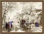 RIOLIS Old Street Christmas Cross Stitch Kit