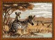 Zebras in the Savannah - RIOLIS Cross Stitch Kit