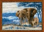 RIOLIS Elephants in the Savannah Cross Stitch Kit