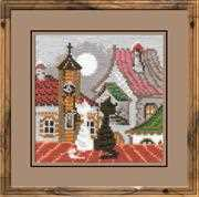 RIOLIS City Cats Spring Cross Stitch Kit