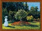 RIOLIS Woman in a Garden Cross Stitch Kit