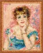 RIOLIS Portrait of Jeanne Samary Cross Stitch Kit