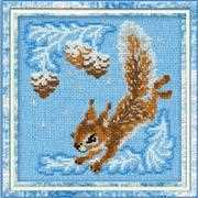RIOLIS Small Squirrel Cross Stitch Kit