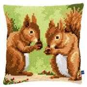 Squirrels Cushion - Vervaco Cross Stitch Kit