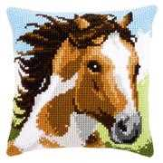 Vervaco Fiery Stallion Cushion Cross Stitch Kit