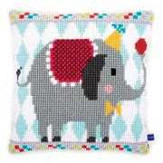 Circus Elephant Cushion - Vervaco Cross Stitch Kit