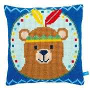 Vervaco Native American Bear Cushion Cross Stitch Kit