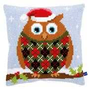 Christmas Jumper Owl Cushion - Vervaco Cross Stitch Kit