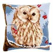 Winter Owl Cushion - Vervaco Cross Stitch Kit