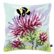 Thistle and Bumblebee Cushion - Vervaco Cross Stitch Kit