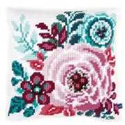 Vervaco Flower Paradise Cushion Cross Stitch Kit