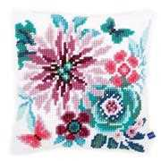 Paradise Flowers Cushion - Vervaco Cross Stitch Kit