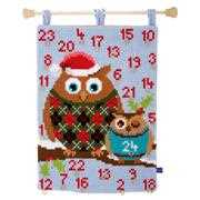 Christmas Owls Advent - Vervaco Cross Stitch Kit