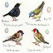 Bothy Threads Garden Birds 2 Cross Stitch Kit