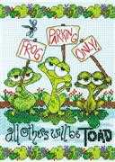 Dimensions Frog Parking Cross Stitch Kit
