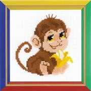 RIOLIS Monkey Cross Stitch Kit