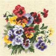 RIOLIS Pansy Medley Cross Stitch Kit