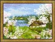 RIOLIS Apple Blossoms Cross Stitch Kit