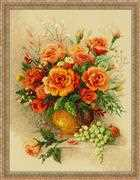 RIOLIS Tea Roses Cross Stitch Kit