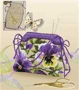 RIOLIS Pansy Pincushion Cross Stitch Kit