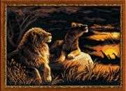 RIOLIS Lions in the Savannah Cross Stitch Kit