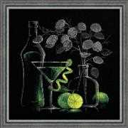 RIOLIS Still Life with Martini Cross Stitch Kit