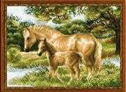 RIOLIS Horse with Foal Cross Stitch Kit