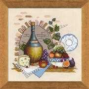 RIOLIS Still Life with Cheese Cross Stitch Kit