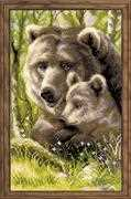 RIOLIS Bear with Cub Cross Stitch Kit
