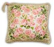 RIOLIS Roses Pillow Cross Stitch Kit