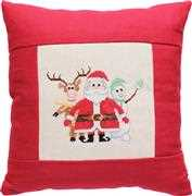 Luca-S Snow Friends Cushion Christmas Cross Stitch Kit