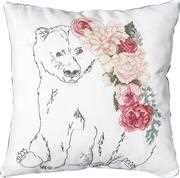Luca-S Bear and Roses Cushion Cross Stitch Kit