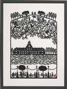 Papercut Castle - Linen - Eva Rosenstand Cross Stitch Kit