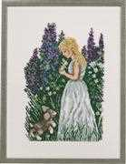 Girl with Puppy - Linen - Eva Rosenstand Cross Stitch Kit