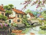 Village Canal - Dimensions Cross Stitch Kit