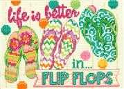 Dimensions Flip Flops Cross Stitch Kit