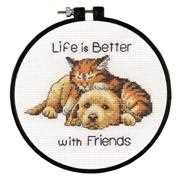 Better with Friends - Dimensions Cross Stitch Kit