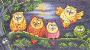 A Hoot of Owls - Aida - Heritage Cross Stitch Kit