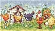 Happy Hens - Evenweave - Heritage Cross Stitch Kit