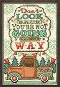 Design Works Crafts Don't Look Back Cross Stitch Kit
