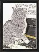 Piano Cat - Design Works Crafts Cross Stitch Kit