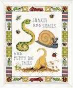 Snakes and Snails - Design Works Crafts Cross Stitch Kit