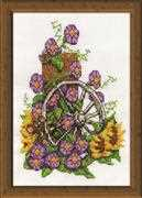 Wagon Wheel Mouse - Design Works Crafts Cross Stitch Kit